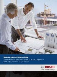 Modular Alarm Platform 5000 Un système de sécurité d'une ...