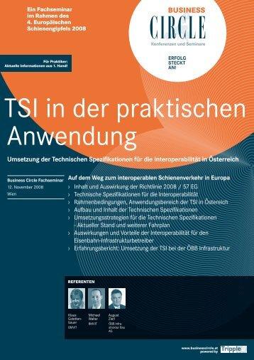 TSI in der praktischen Anwendung