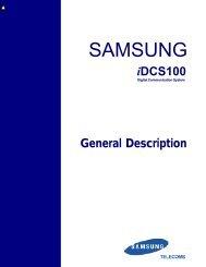 Samsung IDCS100 General Description - Samsung Telephone ...