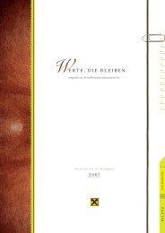 Geschäftbericht 2007 - Walser Raiffeisenbank