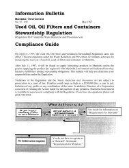 Information Bulletin - Alberta Used Oil Management Association