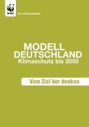Studie Modell Deutschland 2050 - WWF Dialog Plattform
