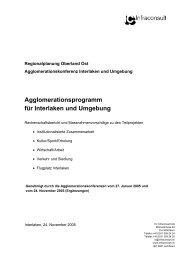 Agglomeration Interlaken - Pro Stedtli