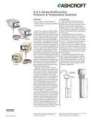 G & L-Series Multifunction Pressure ... - Temp-Press Inc