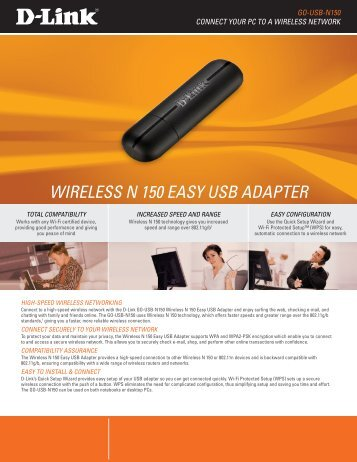 WIRELESS N 150 EASY USB ADAPTER - D-Link