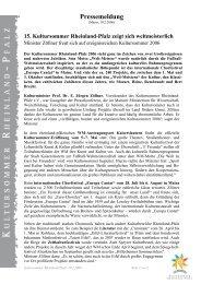 15. Kultursommer Rheinland-Pfalz zeigt sich weltmeisterlich