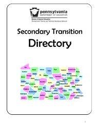 Secondary Transition Directory - Lincoln Intermediate Unit 12
