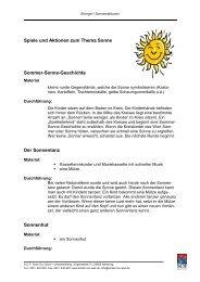 Spiele und Aktionen zum Thema Sonne (PDF, 94 KB)