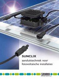 SUNCLIX aansluittechniek voor fotovoltaïsche ... - Phoenix Contact