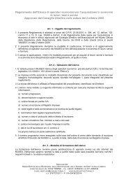 Regolamento dell'Elenco di operatori economici per l'acquisizione ...