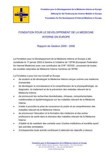FONDATION POUR LE DEVELOPPEMENT DE LA ... - FDIME