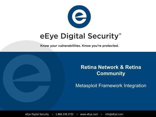 Retina Network & Retina Community - eEye Digital Security