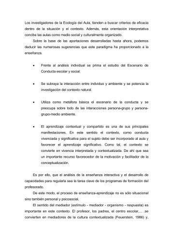 Modelo Ecologico-aportaciones - Página principal