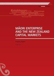 Māori Enterprise and the New Zealand Capital ... - Te Puni Kokiri