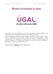 Réussir sa boutique en ligne - Storage - UGAL