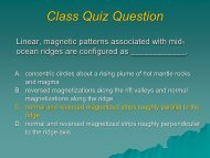 Linear, magnetic patterns associated with mid-ocean ridges are ...
