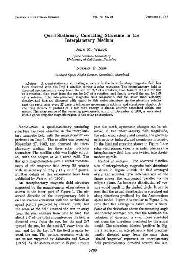 Stationary Corotating Structure in the Interplanetary Medium