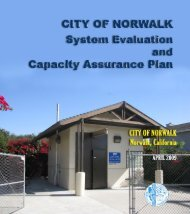 System Evaluation and Capacity Assurance Plan - City of Norwalk