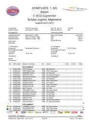 STARTLISTE 1. DG Slalom 3. SCO-Cuprennen Schüler,Jugend ...