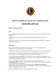 lions european musical competition - Lions Clubs International - MD ...