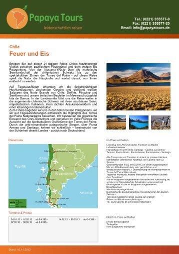 Reise-Katalog Feuer und Eis - Papaya Tours