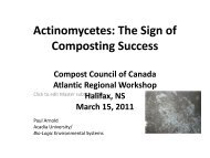 Actinomycetes - Compost Council of Canada