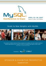MySQL Conference & Expo Sponsor/Exhibitor ... - Conferences
