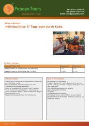 Reise-Katalog Individualreise 17 Tage quer durch Kuba