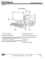 HP Compaq 8100 Elite PC - Ingram Micro