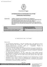 Leggi la Determinazione Dirigenziale - Formazione.provincia.foggia ...