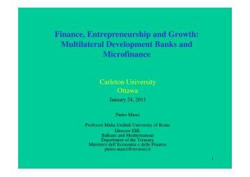 Finance, Entrepreneurship and Growth: Multilateral Development ...