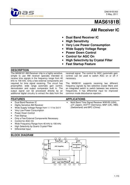 MAS6181B AM Receiver IC