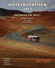 Reisenübersicht Pangeo tours 2012
