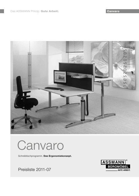 Assmann Büromöbel Canvaro Sts Motortische Paperohde
