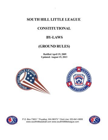 south hill little league constitutional by-laws ... - SportsManager