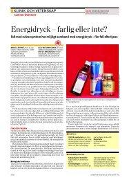 Energidryck – farlig eller inte? - Läkartidningen