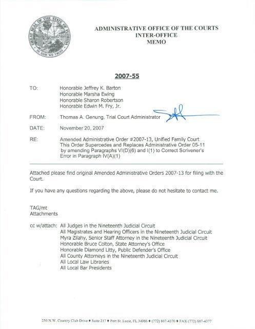 2007-13 - 19th Judicial Circuit