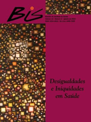 Desigualdades e Iniquidades em Saúde - Instituto de Estudos em ...