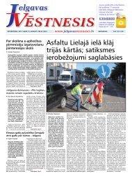 2013.gada 15.augusts Nr.33(320) - Jelgavas Vēstnesis