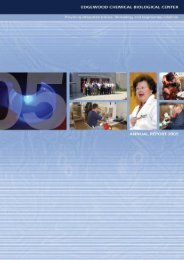 Annual.Report - Edgewood Chemical Biological Center - U.S. Army