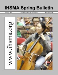 Spring Bulletin No. 238 - January 2011 - Iowa High School Music ...