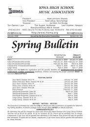 Spring Bulletin No. 228 - January 2006 - The Iowa High School ...