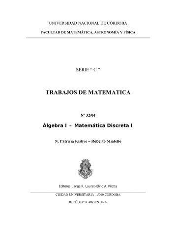 trabajos de matematica - FaMAF - Universidad Nacional de Córdoba