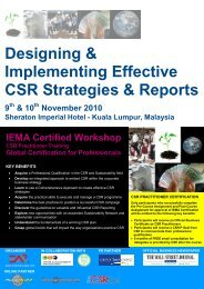 Designing & Implementing Effective CSR Strategies & Reports