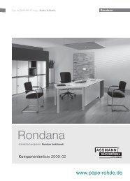 Assmann Büromöbel Rondana Typenliste ... - Pape+Rohde