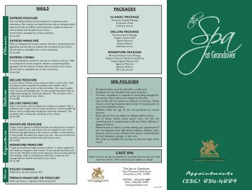 Download Spa Brochure - Grandover Resort and Conference Center
