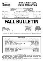 Fall Bulletin No. 221 - The Iowa High School Music Association