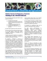 MANEJO DE INVENTARIOS - Cuenta del Milenio - Honduras