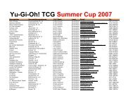 TCG Summer Cup 2007  - Panini Comics