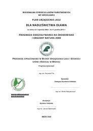 dla nadleśnictwa oława - Państwowe Gospodarstwo Leśne LASY ...